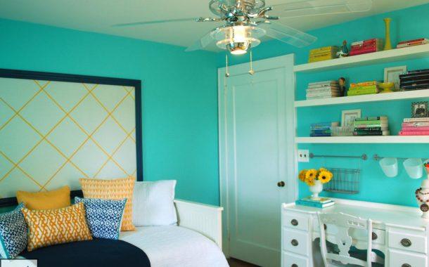 بازی رنگ ها در اتاق خواب زیبای شما
