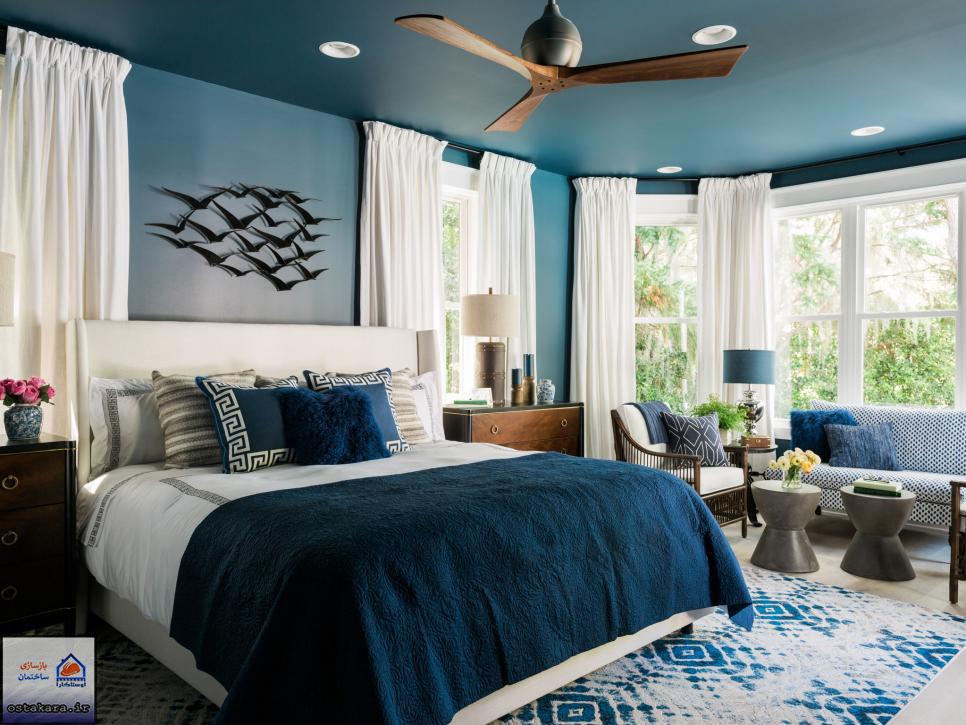 رنگ آبی از رنگهای پرطرفدار بین افراد میانسال در طراحی داخلی