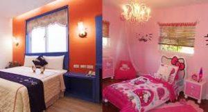 مخلوط رنگها در اتاق خواب