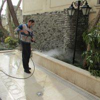 شستن حیاط