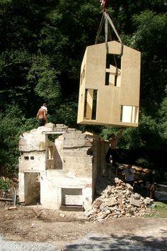 جابهجایی خانه ی بازسازی شده