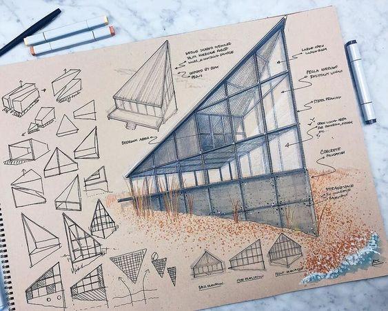 نحوه ی ارائه ی مطالب در شیت بندی معماری