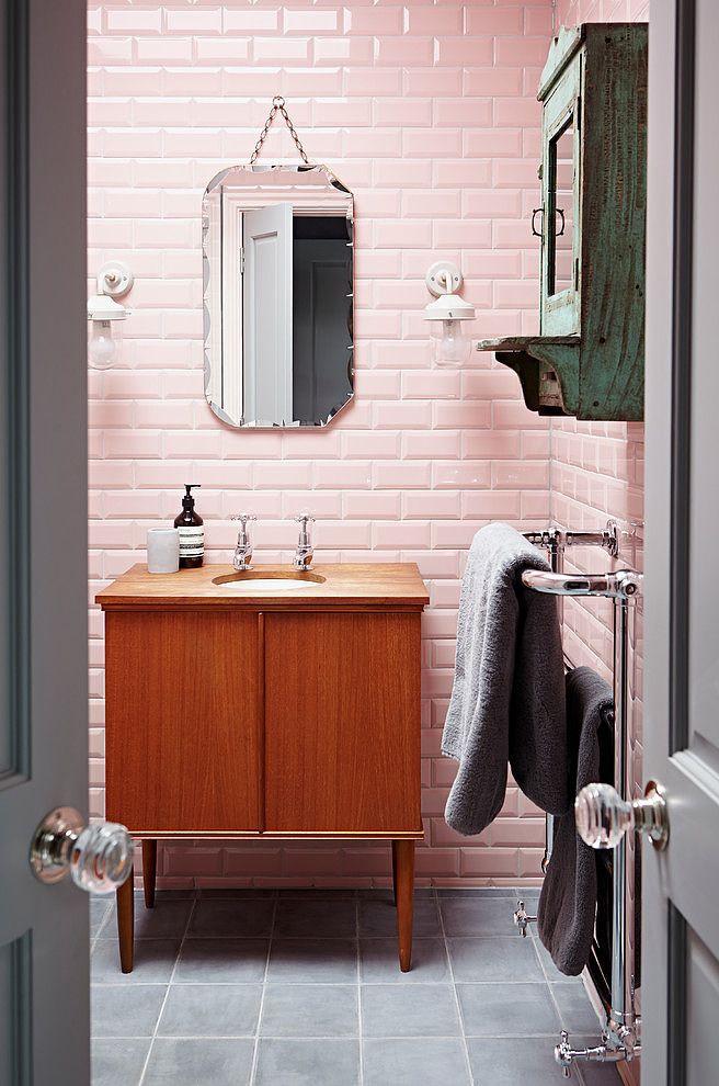 استفاده از رنگ های پاستیلی در کاشی کاری حمام - اوستاکارا